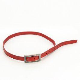 Dámský koženkový pásek odstín červené