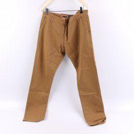 Pánské kalhoty ShineFashion odstín hnědé
