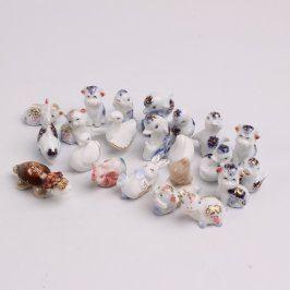 Porcelánové figurky 21 ks