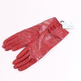 Dámské rukavice Verde odstín červené
