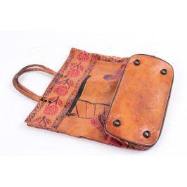 Dámská kožená taška odstín hnědé