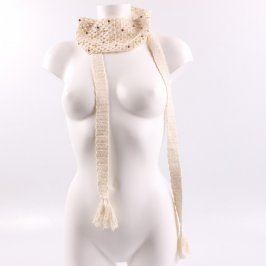 Dámský šátek H&M odstín béžové
