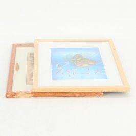 Dřevěné rámečky PONK 2 ks