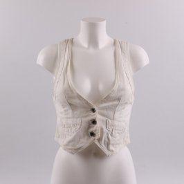 Dámská vesta Giacca Jacket odstín bílé