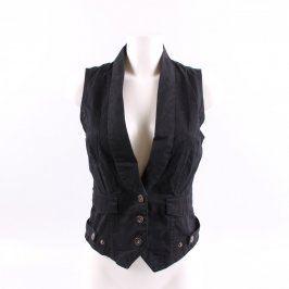 Dámská vesta Amisu odstín černé