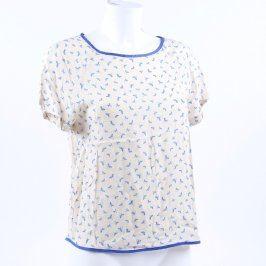 Dámské tričko ZARA odstín bílé
