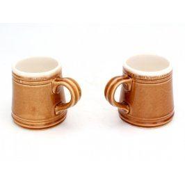 Dva keramické hrnky hnědé