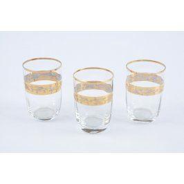 Sada sklenic 3 ks se zlatým lemováním