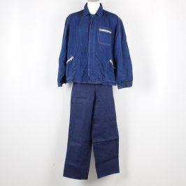 Pracovní bunda a kalhoty modré barvy