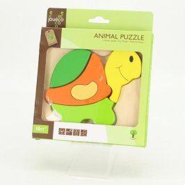 Dřevěné puzzle Jouéco želva
