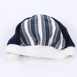 Dětská čepice bílo-modré barvy