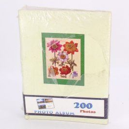 Fotoalbum s dekorem květin na 200 ks