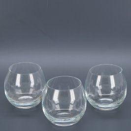 Skleničky 3 ks z čirého skla