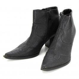 Dámské zimní boty kotníčkové odstín černé