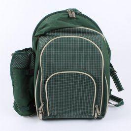 Piknikový batoh zelené barvy