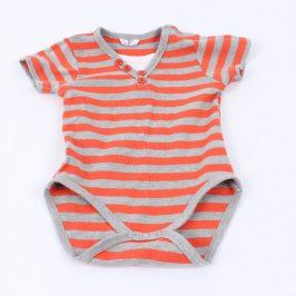 Dětská body šedo-oranžové barvy
