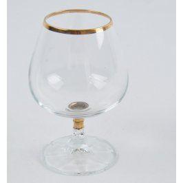 Sklenice na víno se zlatým pruhem