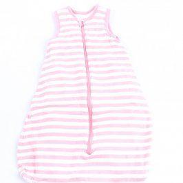 Dětský pytel na spaní Lupilu růžovo bílý