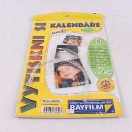 Papír Rayfilm Vytiskni si kalendář lesklý