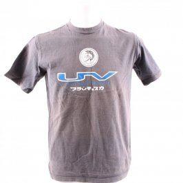 Pánské tričko Diesel šedo hnědé s potiskem