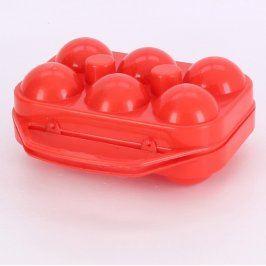 Plastová dóza na vajíčka červená