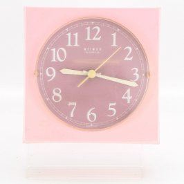 Nástěnné hodiny Weimar růžové