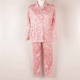 Dámské dvoudílné pyžamo s límečkem