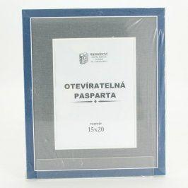 Dřevěné modré rámy Knihařství Zdeňky Málkové