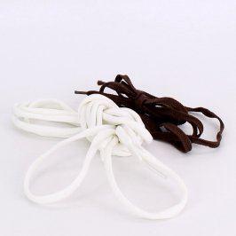 Tkaničky do bot bílé a hnědé