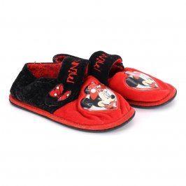 Dětské bačkory Minnie černo-červené