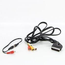 Video kabely scart/3x cinch a cinch/2x cinch
