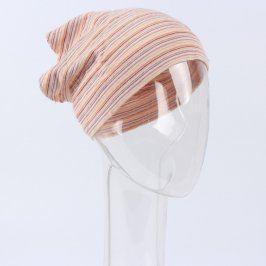 Dětský šátek růžovo oranžový proužkovaný