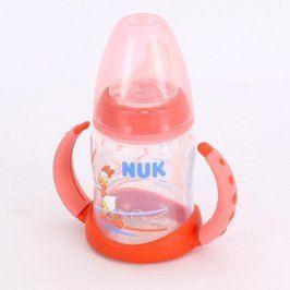 Dětská lahev Nuk červeno oranžová s obrázkem