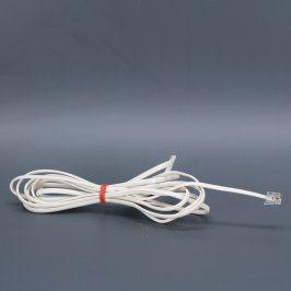 Síťový kabel RJ11 bílý délka 300 cm