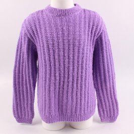 Dívčí svetr fialové barvy