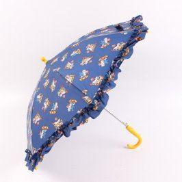 Dětský deštník modrý se zvířátky