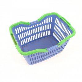 Nákupní koš modro-zelený plastový