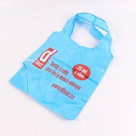 Nákupní taška modrá reklamní s potiskem