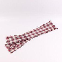 Dámský šátek kostkovaný červeno bílý