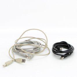 USB A-B kabely 2 x 185 cm + 1 x 155 cm
