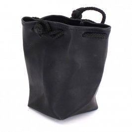 Pytlíček na drobnosti kožený černý