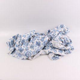 Přehozy textilní modro bílé 2 ks