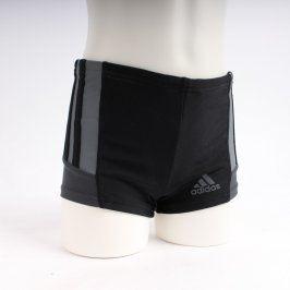 Pánské plavky Adidas černé s šedými prvky