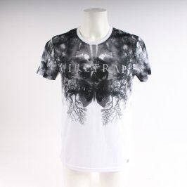Pánské tričko Firetrap bílo černé