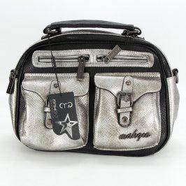Dámská kabelka Makgio černo stříbrná
