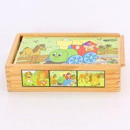 Dřevěné kostky s motivem zvířátek