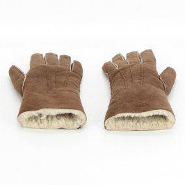 Dámské rukavice zimní odstín hnědé