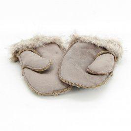 Dámské rukavice palcové odstín béžové
