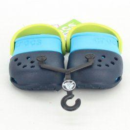 Dětské boty Crocs modro-zelené barvy