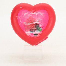 Plastová krabička ve tvaru srdce